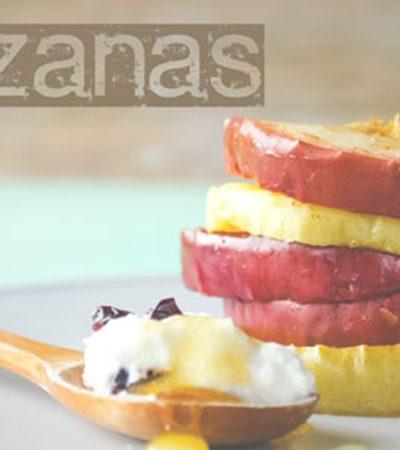 Manzanas al horno con mantequilla de vainilla