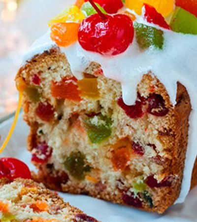 Mini fruit cakes individuales
