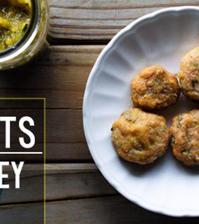 Nuggets de pavo con chutney de piña y jalapeño