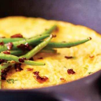 omelette abierto de ejotes recetas chef oropeza