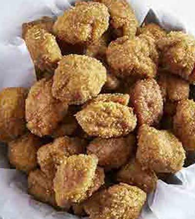 Palomitas de pollo crujientes
