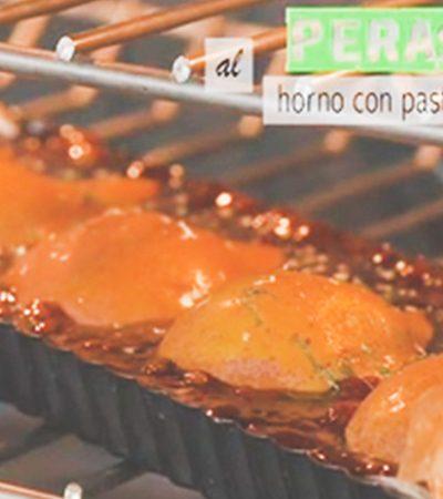 Peras al horno con pasta filo