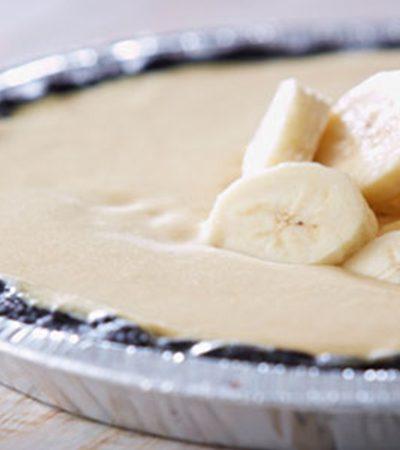 Pie de crema de plátano