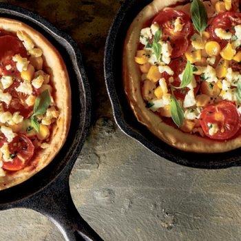 Receta de pizza de vegetales al sartén