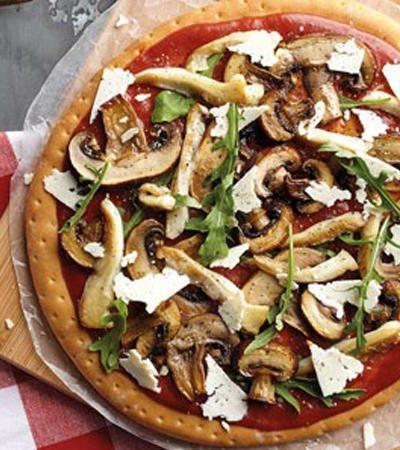 Pizza de Hongos Mixtos Salteados