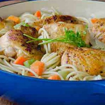 Pollo con Spaghetti a la Cacerola