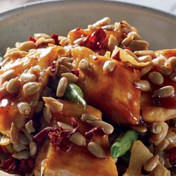 Receta pollo oriental picante con arroz al vapor