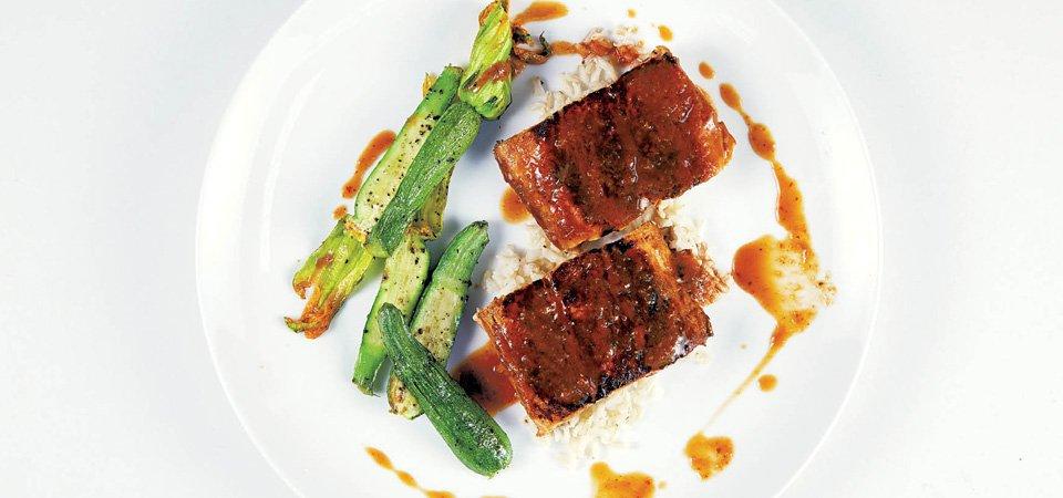 Receta de salmón marinado con miso