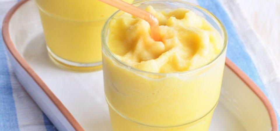 smoothie de maracuyá y plátano