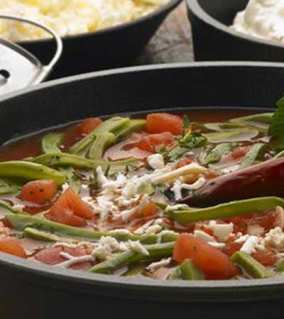 Sopa de charales con nopales