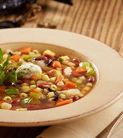 Sopa Minestrone Mexicanizada