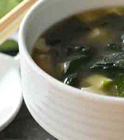 Sopa de miso al chipotle
