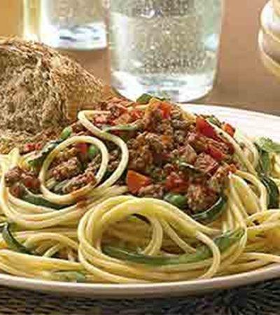 Spaghetti con boloñesa a la mexicana