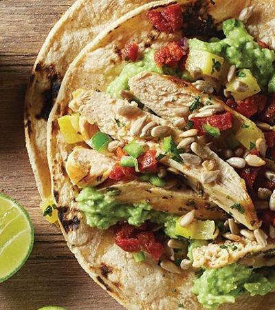 Tacos placeros de pollo