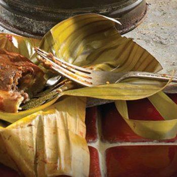 Tamales de frijol negro