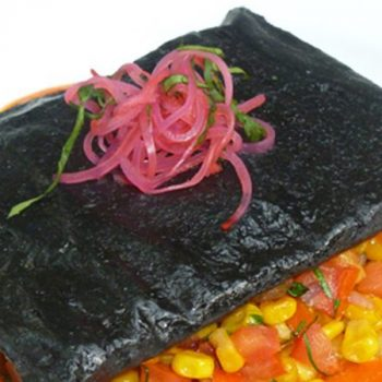 Tamales de huitlacoche