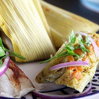 Tamales verdes con pollo (versión saludable)