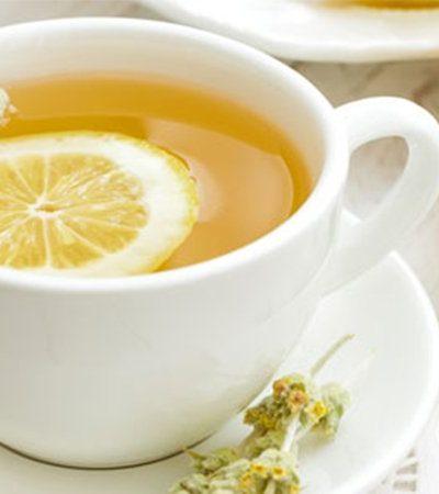 Té verde con hierbabuena y limón
