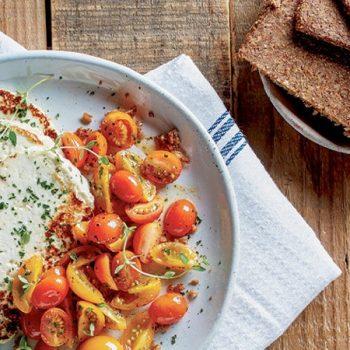 Receta tempeh con tomates