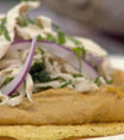 Tostadas de pollo Obela chipotle