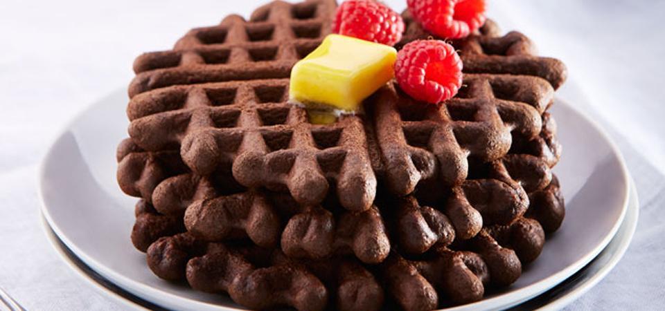 waffles chocolate y cafe
