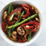 wok de ejotes con ajonjoli recetas chef oropeza