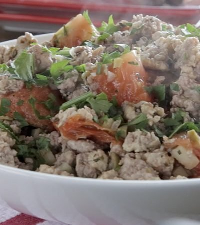 Relleno para pavo de carnes mixtas