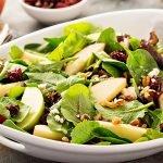 Receta de ensalada espinacas manzana