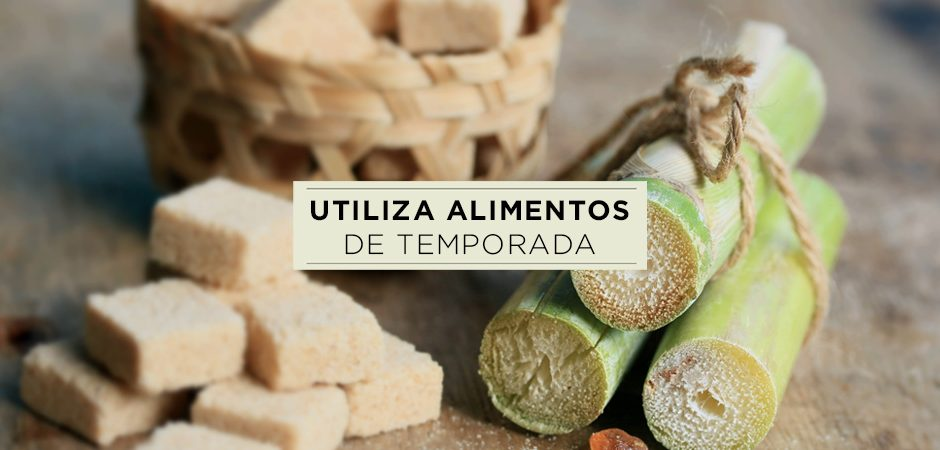 Ingredientes de temporada: avellanas, caña de azúcar, chabacano y bacalao.