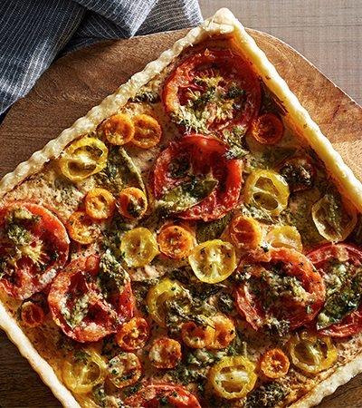 Tarta abierta de tomates