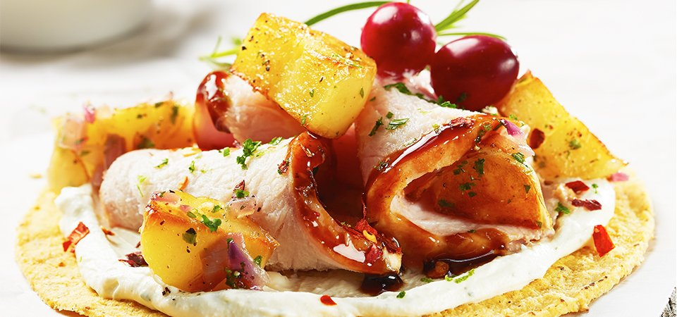 tostadas-lomo-cerdo-caramelizado