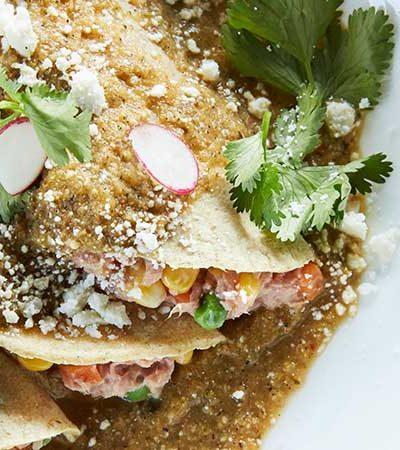 Enchiladas verdes de atún