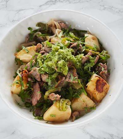 Bistec en chile verde
