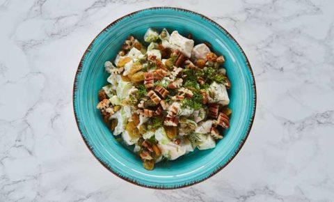 Ensalada de manzana y pollo