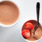 Gelatina de coco y chocolate