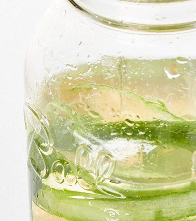 Agua de pepino y mandarina