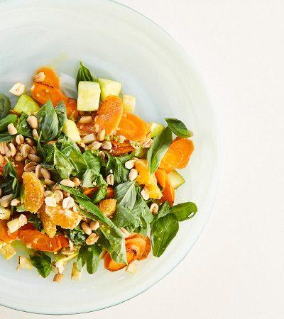 Ensalada tibia de zanahoria