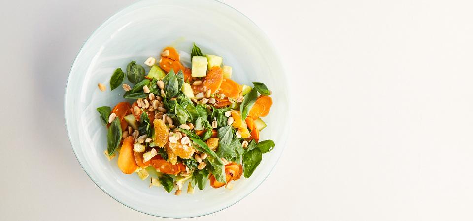 Ensalada Tibia de Zanahoria con Vinagreta de Cítricos