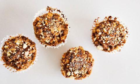 Muffins de Avena con Almendras y Dátiles