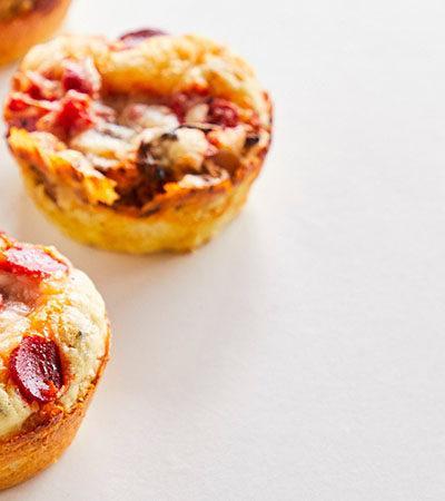 Pizza Cupcakes Rellenos de Queso