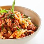 Pluma con Salsa de Atún y Tomate