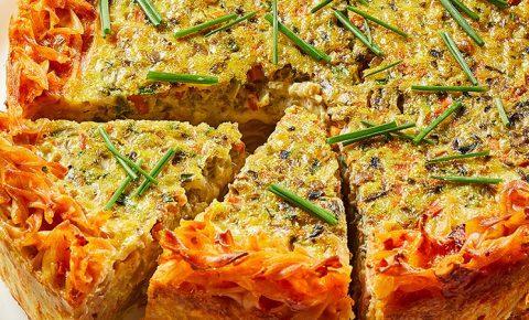 Quiche de Vegetales con Costra de Pasta