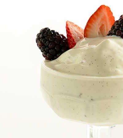 Helado de Yogurt de Vainilla Casero