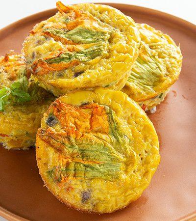Muffins de Huevo con Flor de Calabaza
