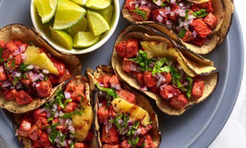Tacos de Carnitas de Atún al Pastor
