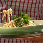Spaghetti con Salsa Alfredo de Coliflor